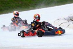 [Vídeo] Verstappen y Gasly se lo pasan en grande en karts sobre hielo