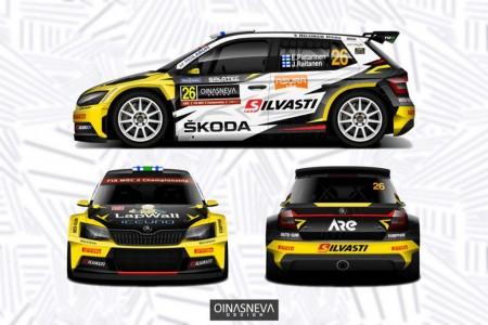 Eerik Pietarinen hará cuatro rallies en WRC2 Pro con Skoda