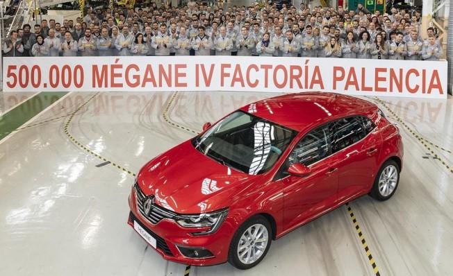 Renault Mégane número 500.000 en Palencia