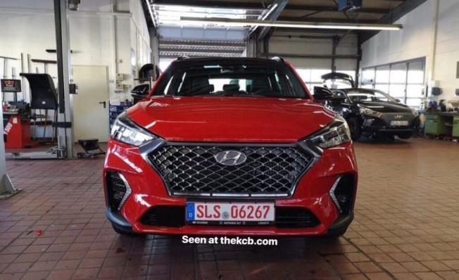 Hyundai Tucson N Line - foto espía frontal