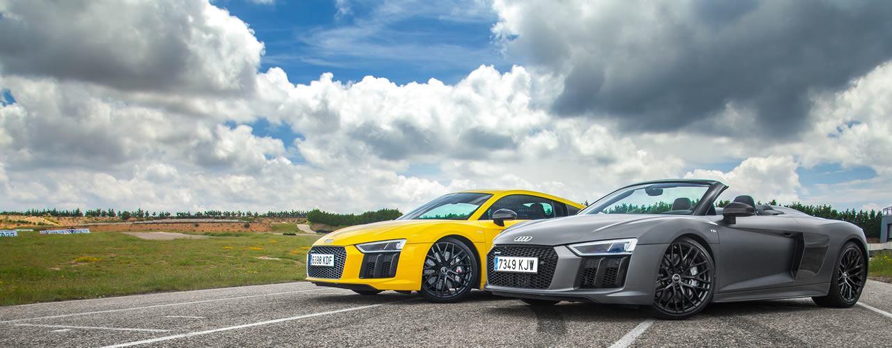 Comparativa Audi R8 Coupé vs Audi R8 Spyder